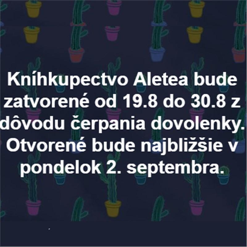 Kníhkupectvo Aletea zatvorené